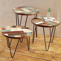 San Miguel Reclaimed Wood Side Tables