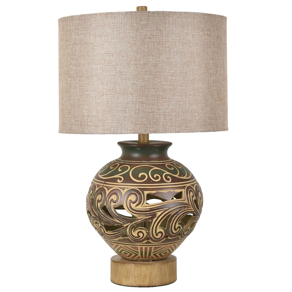 Sandstorm Scroll Table Lamp