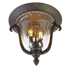 Santa Barbara Outdoor 2 Light Flush Mount