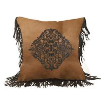 Santa Cruz Chocolate Fringed Pillow