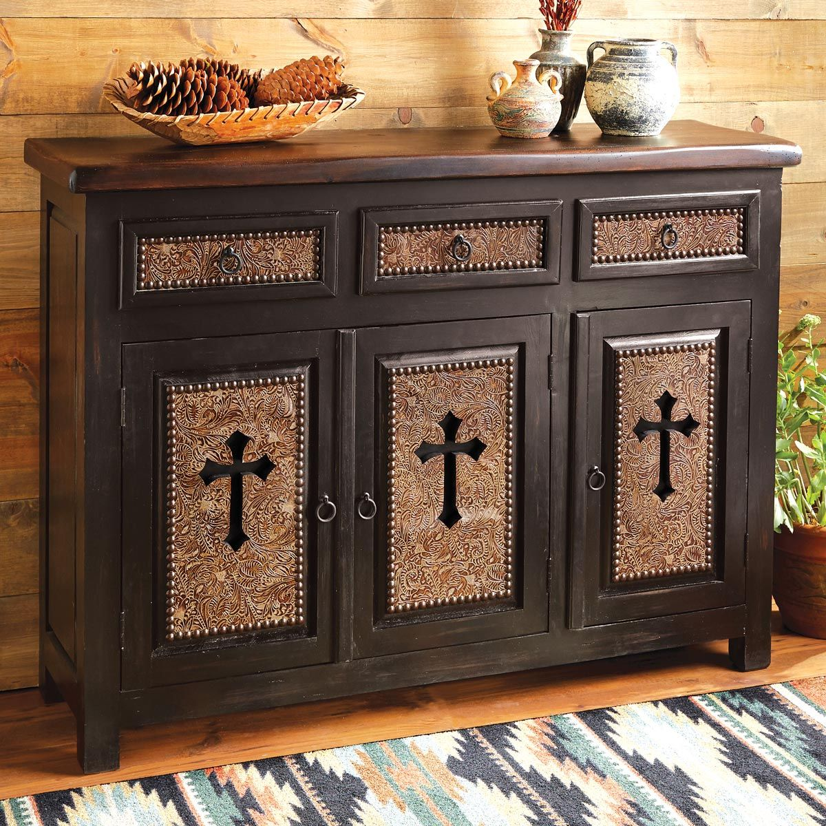 Santa Cruz Cross Cabinet - 3 Door