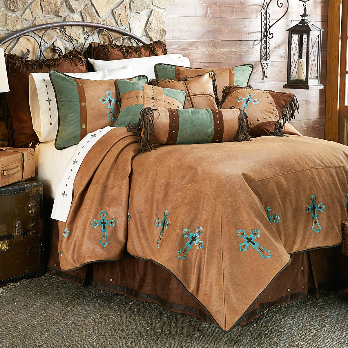 Santa Cruz Turquoise Bed Set - Twin