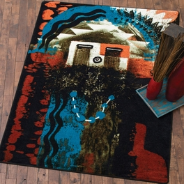 Santa Fe Boogie Rust Rug Collection