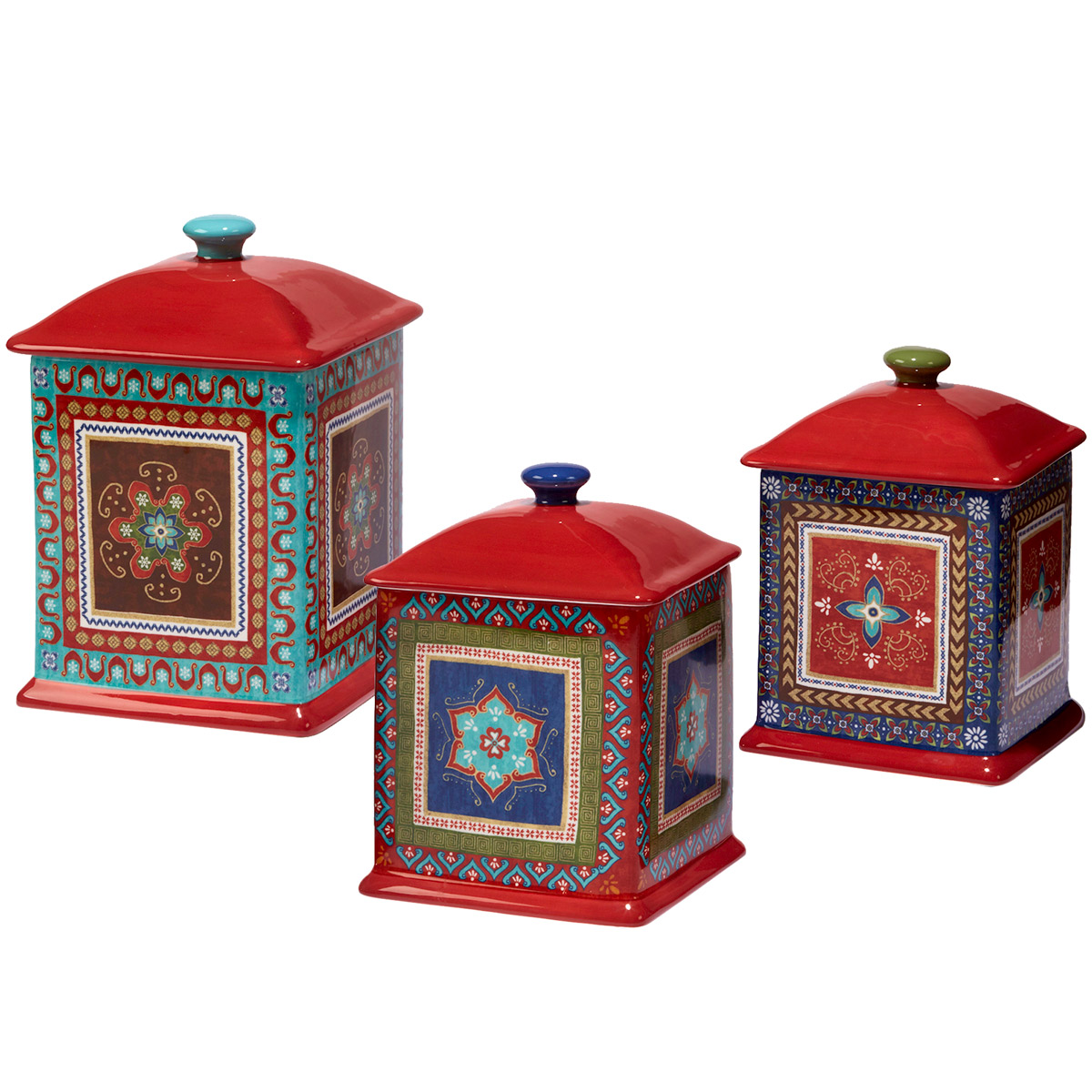 Santa Fe Canisters - Set of 3