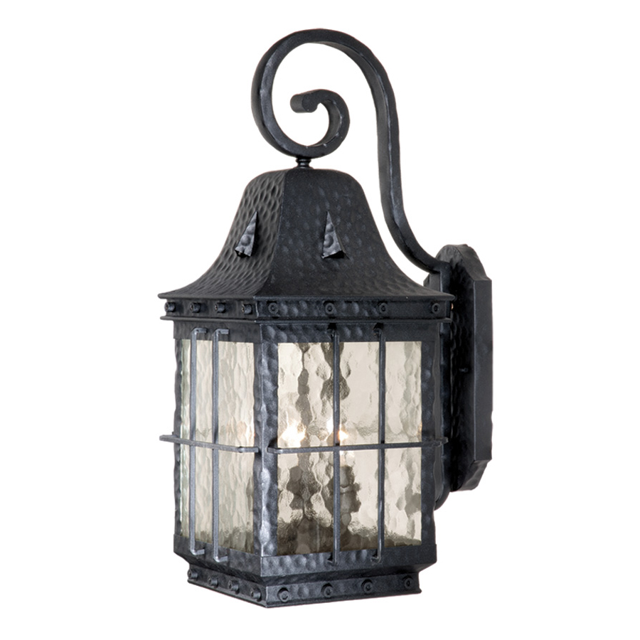 Savannah 9-Inch Outdoor Wall Lamp - Textured Black