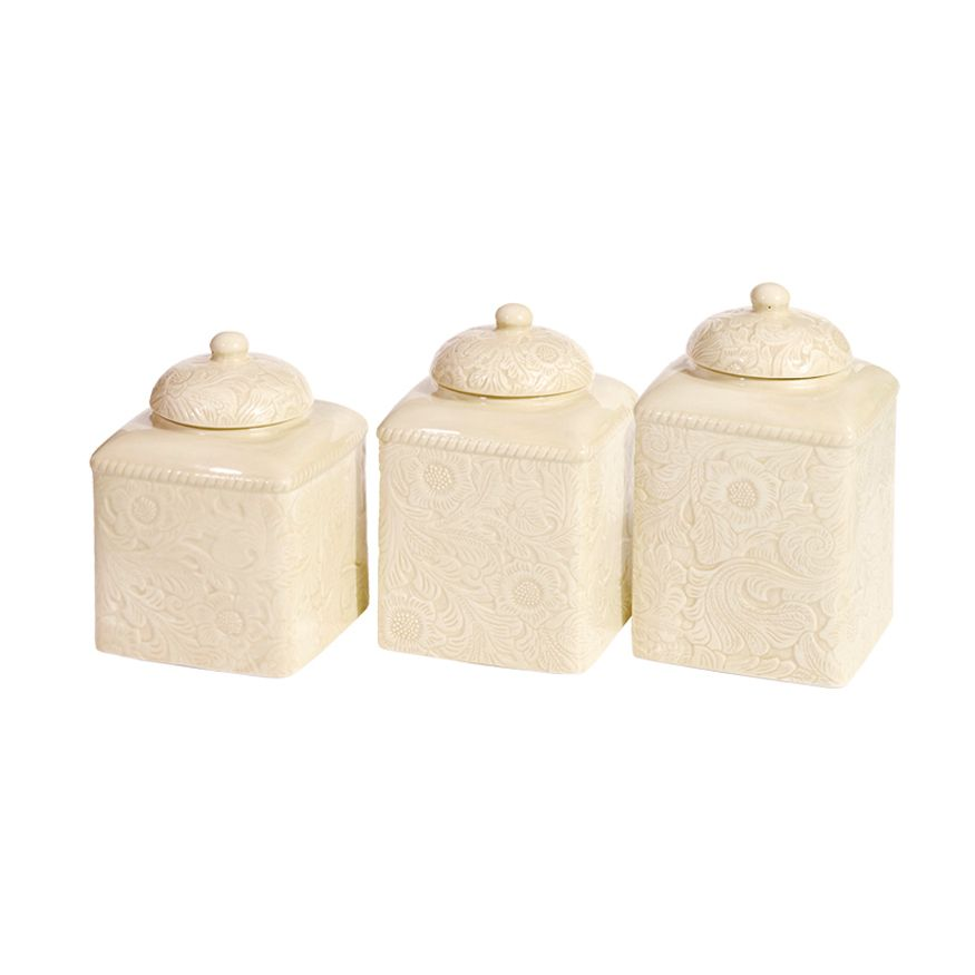 Savannah Cream Canister Set