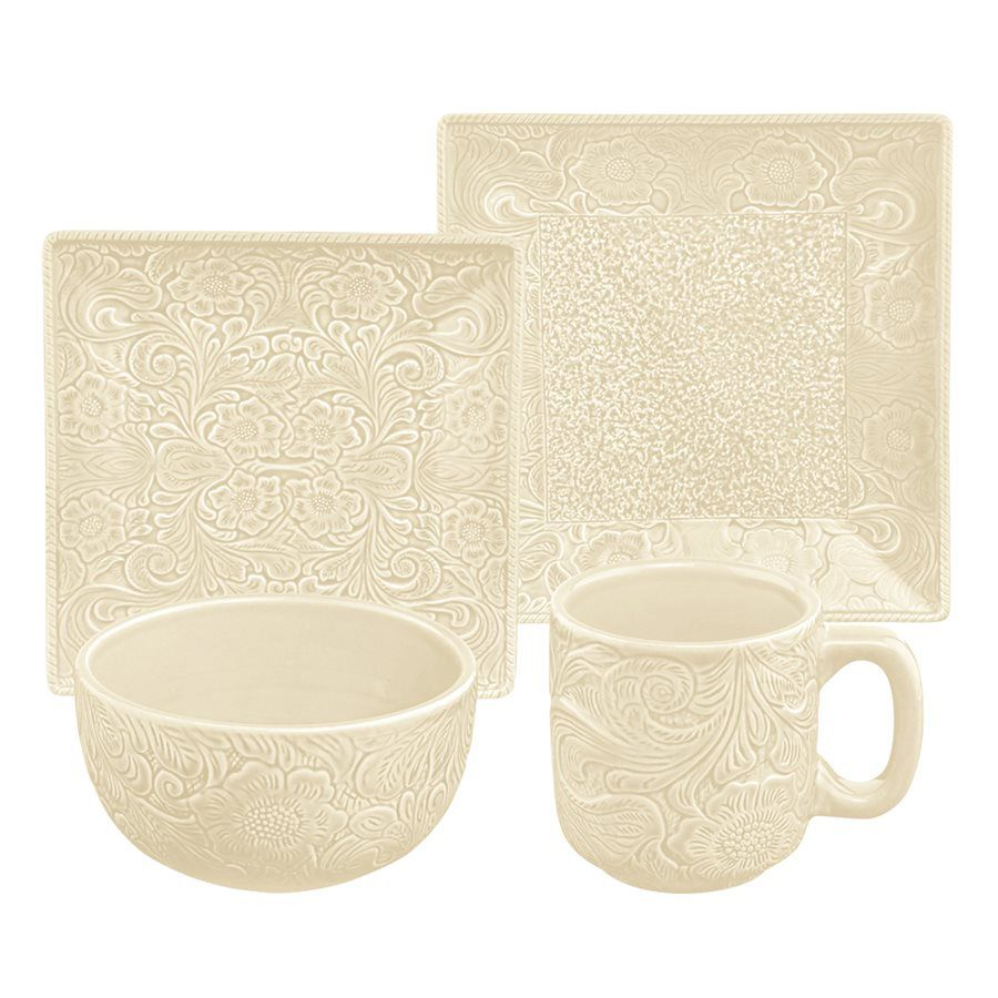 Savannah Cream Dinnerware Set - 16 pcs