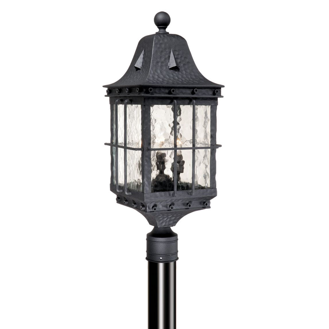 Savannah Outdoor Pole Light - Textured Black