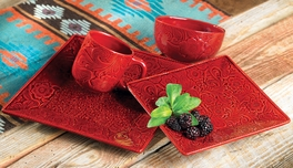 Savannah Red Dinnerware Set (16 pcs)