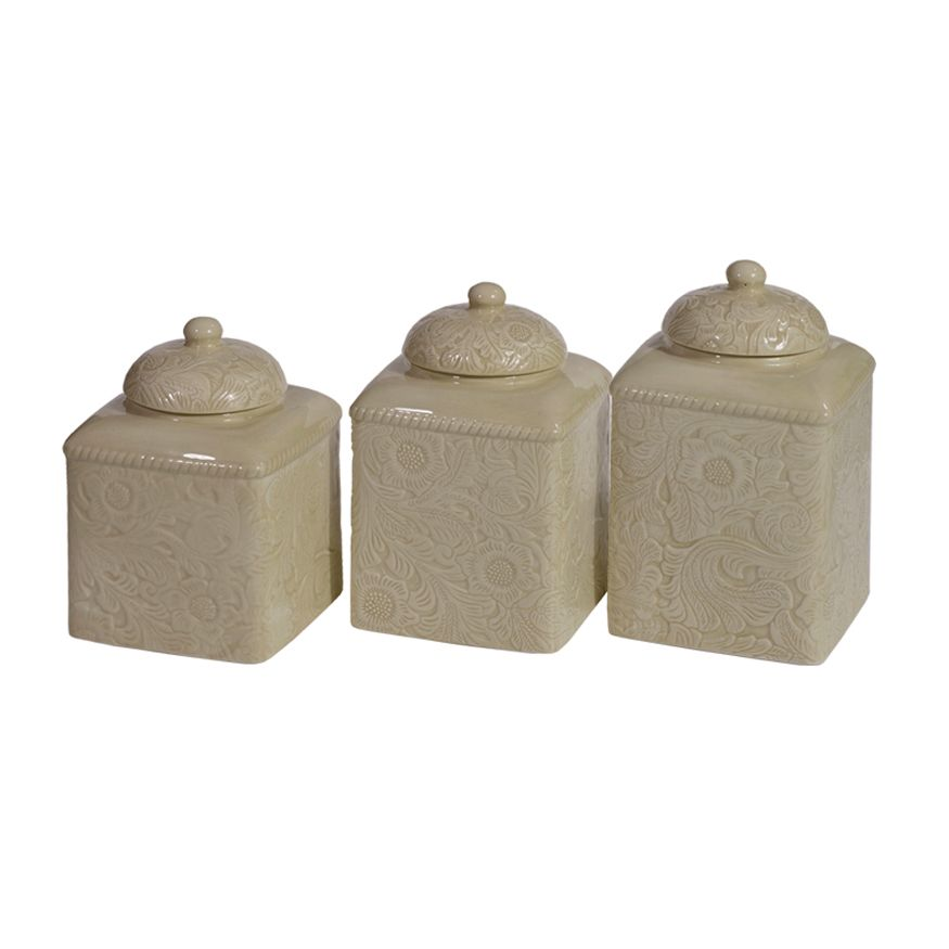 Savannah Taupe Canister Set