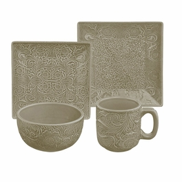 Savannah Taupe Dinnerware Set - 16 pcs