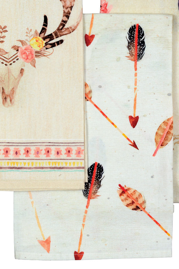 Scattered Arrows Tea Towel - CLEARANCE