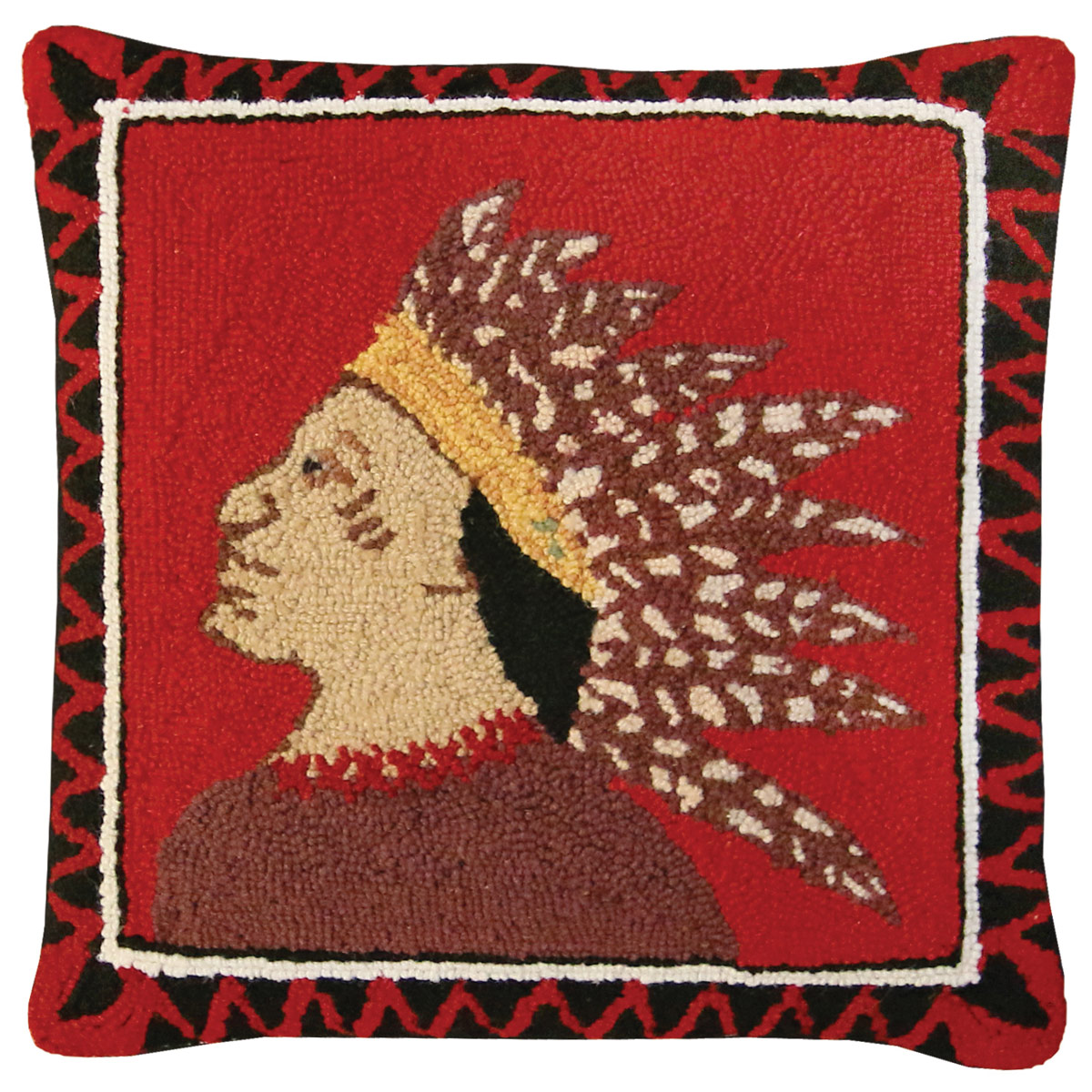 Scout Left Hooked Wool Pillow