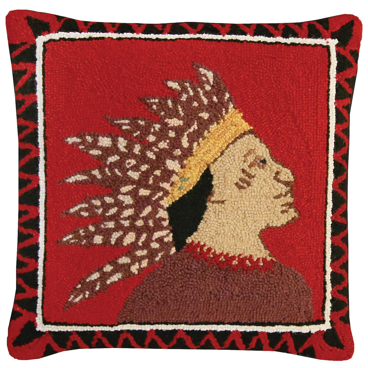 Scout Right Hooked Wool Pillow