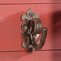 Scroll Hammered Robe Hook