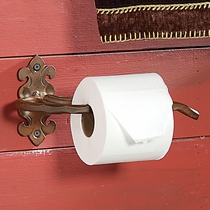 Scroll Hammered Toilet Paper Holder