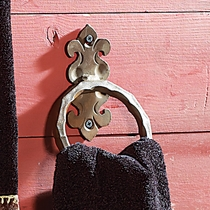 Scroll Hammered Towel Ring