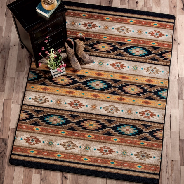 Southwest Rugs 8 X 11 Sedona Rug Lone Star Western Decor