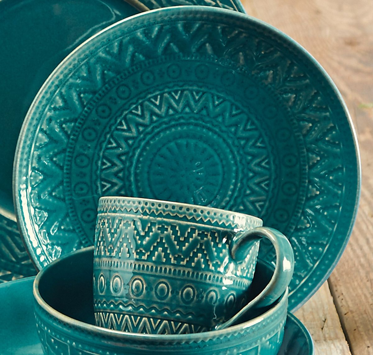 Sedona Sunrise Teal Salad Plate