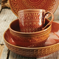 Sedona Sunrise Terracotta Ice Cream Bowl