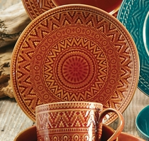 Sedona Sunrise Terracotta Salad Plate
