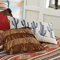 Serape Diamonds Cactus Pillow