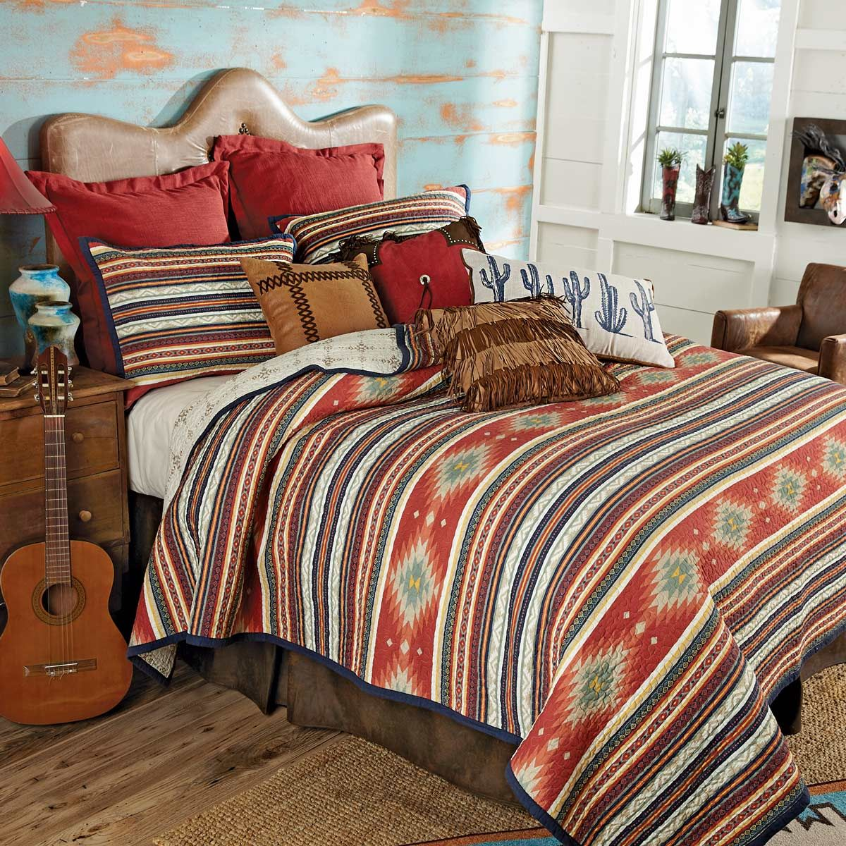 Serape Diamonds Quilt Set - Queen