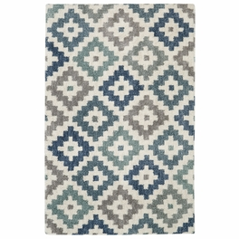 Serene Stepped Diamonds Rug Collection
