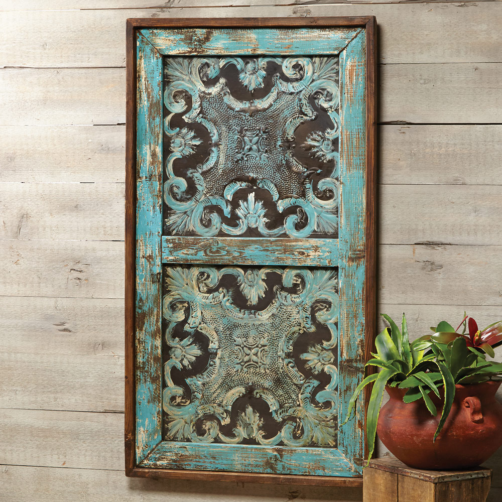 Sevilla Turquoise Panel Wall Hanging