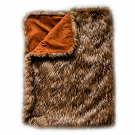 Shades of the West Lion's Mane Reversible Throw