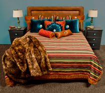 Shades of the West Reversible Coverlet - Cal King Plus