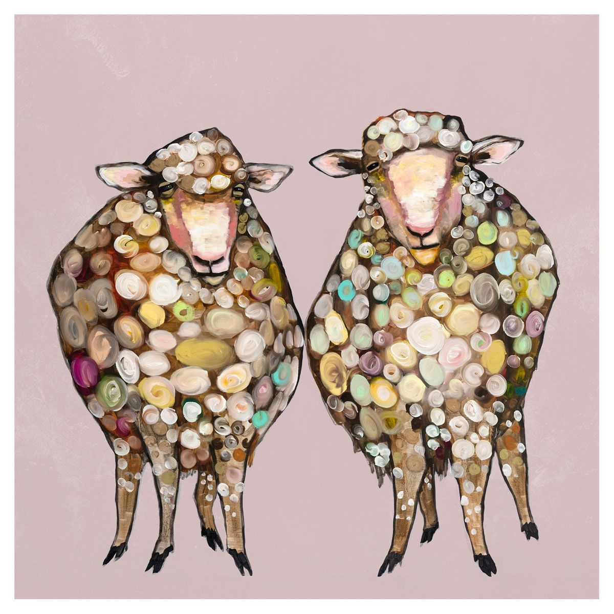 Sheepish Couple Canvas Art