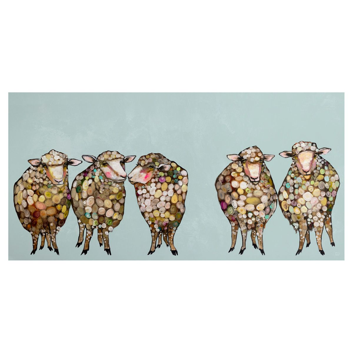 Sheepish Family Canvas Art