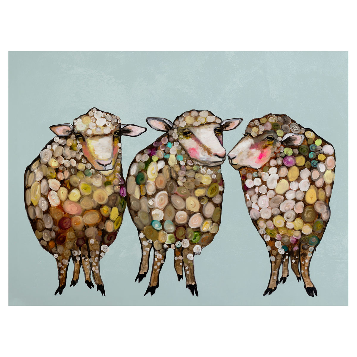 Sheepish Trio Canvas Art