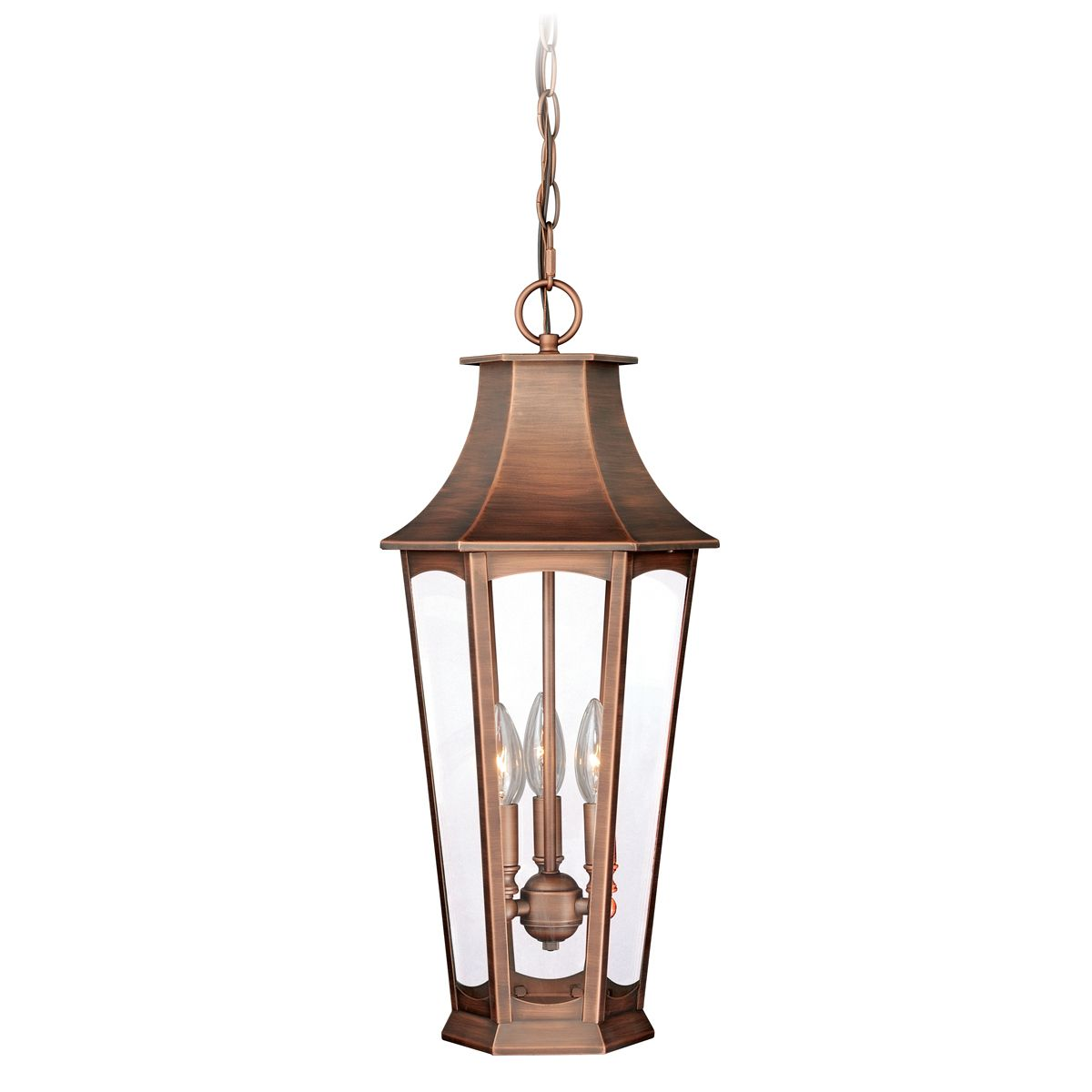 Shiloh Outdoor Pendant - Brushed Copper