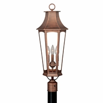 Shiloh Outdoor Pole Light - Brushed Copper