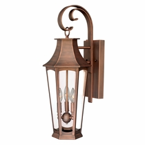 Shiloh Outdoor Wall Lamp - Brushed Copper