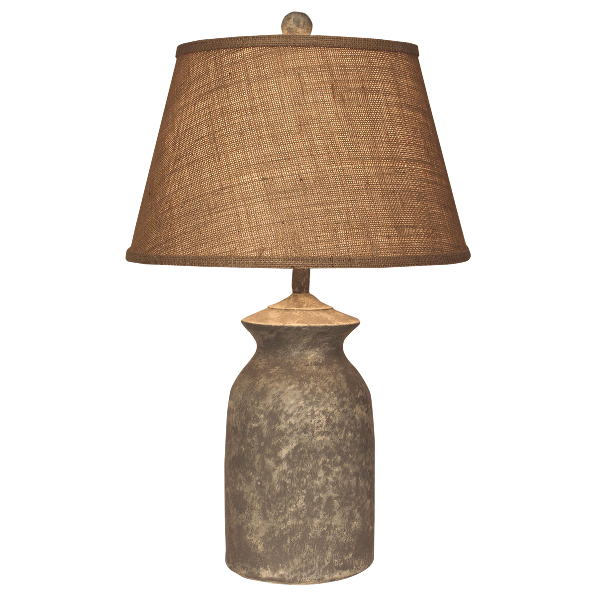 Short Faux Concrete Table Lamp