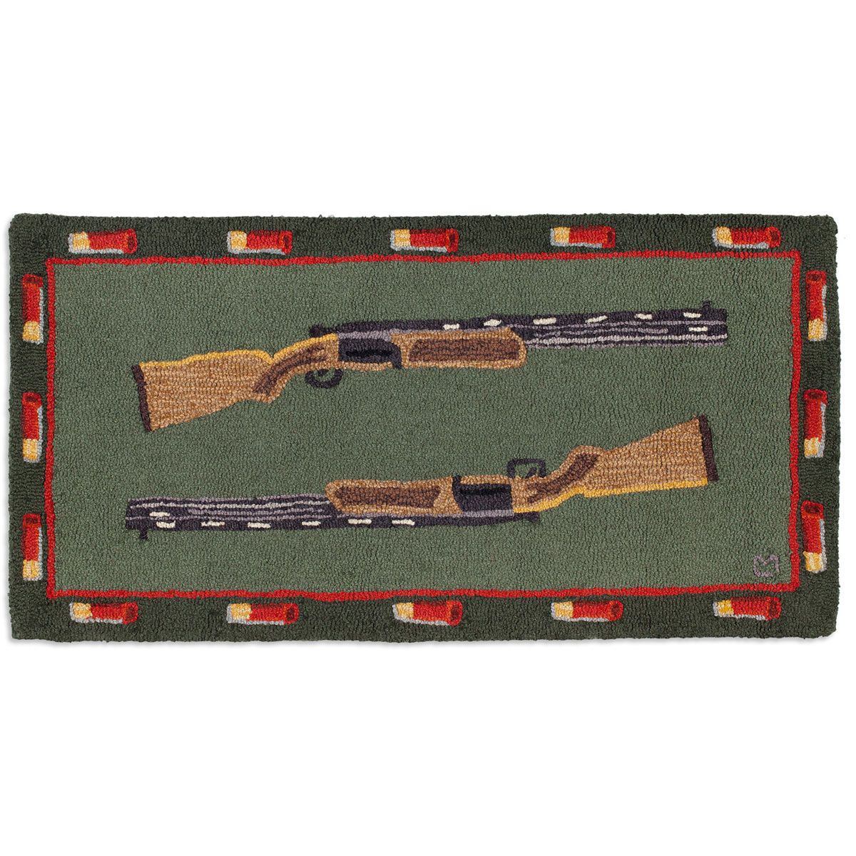 Shot Guns Hooked Wool Accent Rug