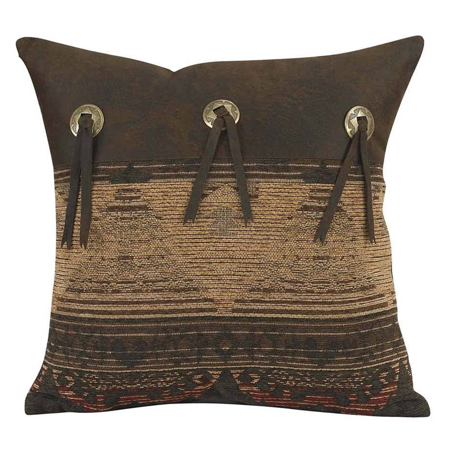 Sierra Chenille Suede Concho Pillow
