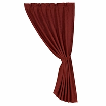 Sierra Red Faux Suede Curtain