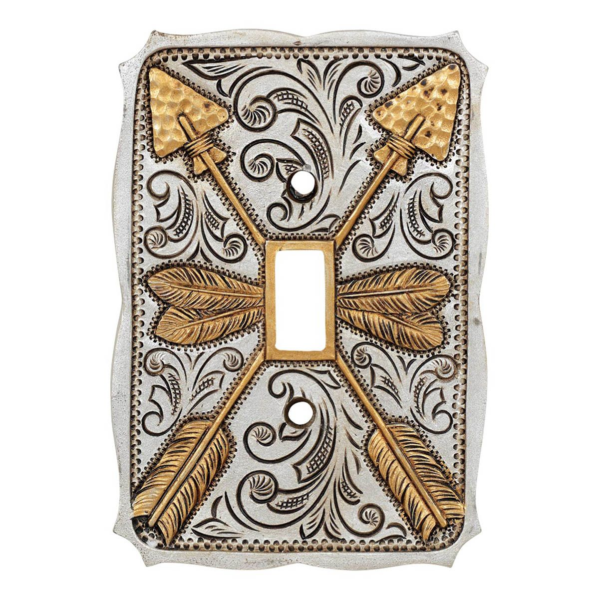 Silver Arrow Single Switch Cover - CLEARANCE