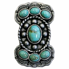 Silver Butterfly with Turquoise Stones Napkin Rings - Set of 4