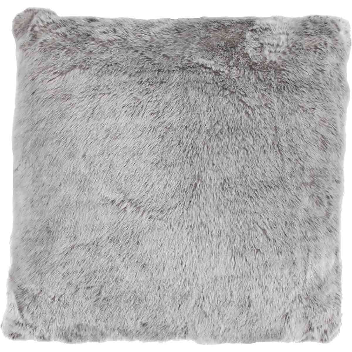 Silver Faux Fur Pillow