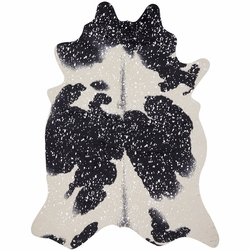 Silver Faux Holstein Rug Collection