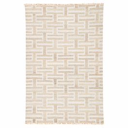 Silver Geometric Stacked Rug Collection