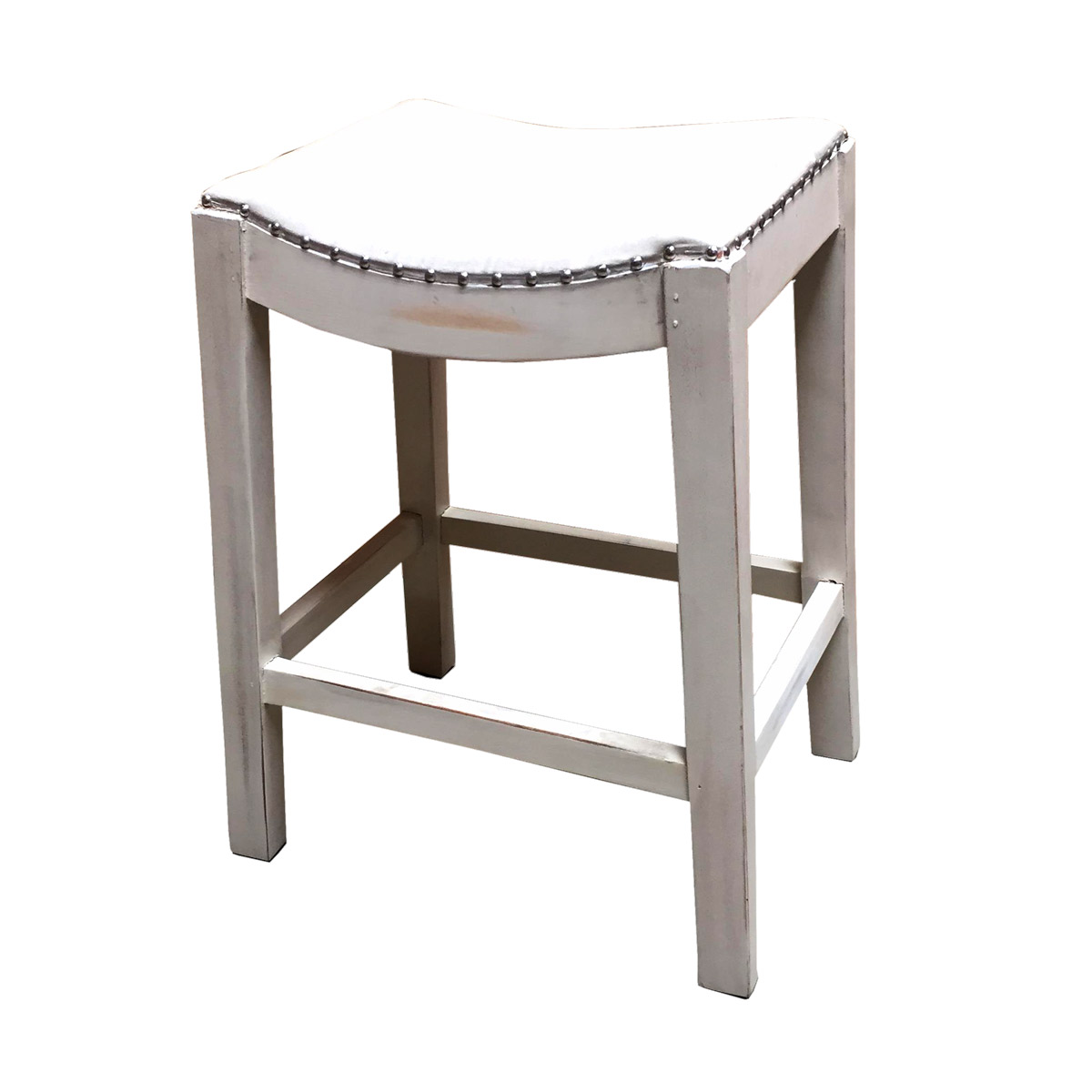 Silver Saddle Mount Counter Stool