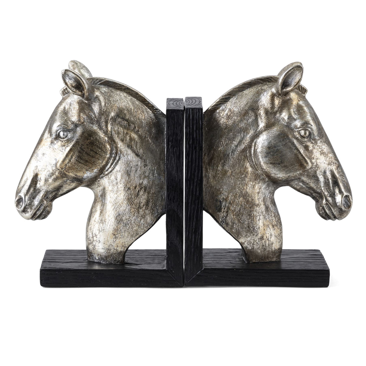 Silver Stallion Bookends