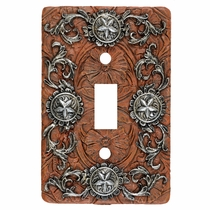Silver Stars Single Switch Plate