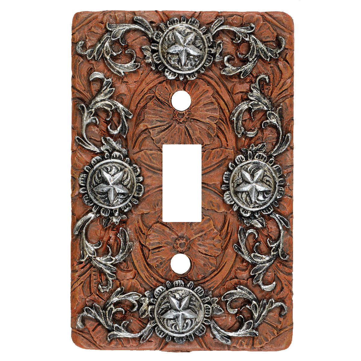 Silver Stars Single Switch Plate - CLEARANCE